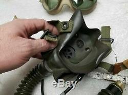 Ww2 Pilotes Casque Lunettes Masque À Oxygène Demande A-14 Vintage Air Force De L'armée De Vol