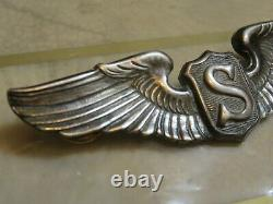 Ww2 Pin De Service Pilot Sterling Silver Pin 3 Usf Army Air Force Army Air Corps