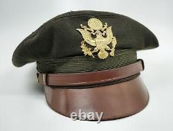 Ww2 Soldat Américain Chapeau Chapeau De Visière Army Air Corp Force Flight Weighter Lewis Broyeur