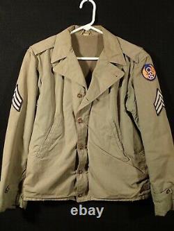 Ww2 Us Aaf 8th Army Air Force Sergent M41 Field Jacket 34r'talon' Zipper Fine