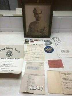 Ww2 Us Army Air Corp 8th Air Force Airman Insignia & Paper Groupement