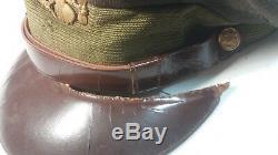 Ww2 Us Army Air Force Aaf E-z Cushion Pilot Pilot Crusher Cap Avec Badge