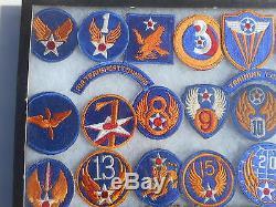 Ww2 Us Army Air Force Collection Patch 35 Patches Cbi Siège De La 8th Air Force