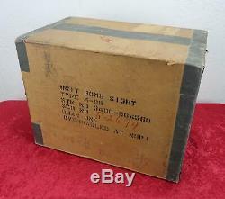 Ww2 Us Army Air Force Corp Us Air Force Norden Bombsight Boîte De Rangement De Transport De Caisses En Bois