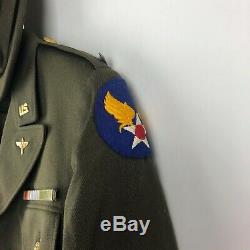 Ww2 Us Army Air Force Flight Infirmière Uniforme Veste Jupe Cap Lt La Seconde Guerre Mondiale Nommé
