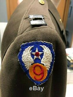 Ww2 Us Army Air Force Officiers Robe Veste 9 Air Force