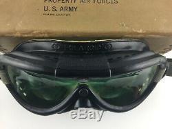 Ww2 Us Army Air Force Polaroid Vol Lunettes B-8 Boîte Avec Lentilles Et Livret
