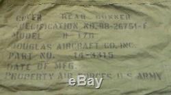 Ww2 Us Army Air Forces B-17 Bombardier Queue Du Mitrailleur Couverture En Toile Mitrailleur Arrière Et Chars