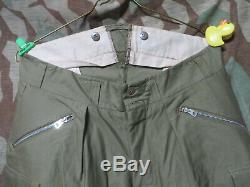 Ww2 Us Army M1942 Type II 10th Mountain Pantalons Pantalons Fss Usgi De Taille Vet 34