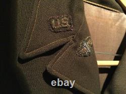 Ww2 Usaaf 8ème 9ème Army Air Corps Eto Bullion Veste Grande Taille Uniforme Original