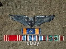 Ww2 Usaaf 8th Army Air Force Aérien Gunner Ike Veste Ailes Ribbons Cimiers Nice+