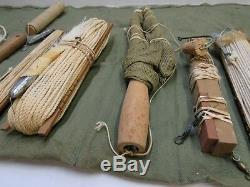 Ww2 Usaaf Armée Armée De L'air De Survie Pêche Kit Grand W Hbt Rouleau Tablier Certains Conten