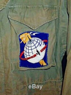 Ww2 Usaaf Army Air Forces Airways M-1943 Système De Communications Champ Jacket 38r
