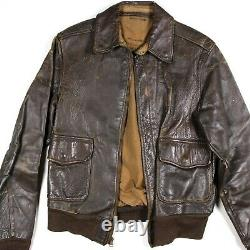 Ww2 Usaaf Army Air Forces Corps Aac Flight Jacket Type A2 A-2 Identifié Ided