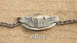 Ww2 Usaaf Military Us Armée Air Force Liaison Pilot Wing Bracelet Sterling