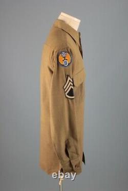 Wwii 10th Air Force Uniforme Laine Chemise Cbi Patch Sz M 40s Army Vtg Pour Hommes Usaaf
