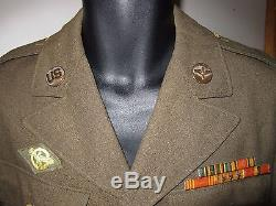 Wwii 5e Armée De L'air Pacific Theatre Army Air Corps Sergeant Uniform Jacket 38l