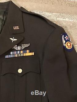 Wwii Armée De L'air Force 38l Officier Service Manteau Sterling Ailes