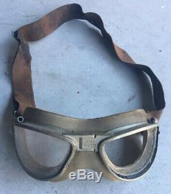 Wwii Originale Usaaf Vol Volant Lunettes De Type An-6530 Us Army Air Forces Pilote