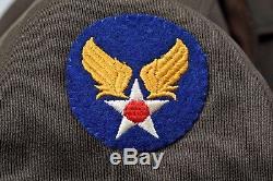 Wwii U. S. Army Air Corps 8e Air Force 1e Veste Ike Lieutenant Avecinsignia