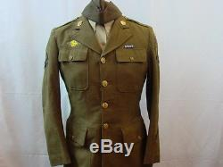 Wwii Us Army 4th Air Force Ww2 Uniform Group Tunic Jacket Shirt 2 Chapeaux