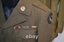 Wwii Us Army Air 15th Force Ww2 Ike Veste Chemise Et Pantalon Uniforme 1944