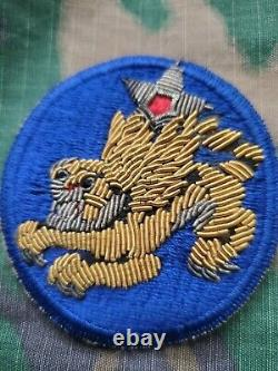 Wwii Us Army Air Corps 14th Air Force Flying Tigres Gemsco Bullion Oversew Patch