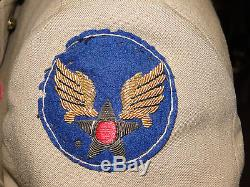 Wwii Us Army Air Force Summer Officer Uniforme Boolean Cbi Patch (17558)