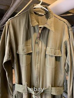 Wwii Us Army Air Forces Summer Flight Suit An-s-31a Taille 42 Moyen Très Agréable