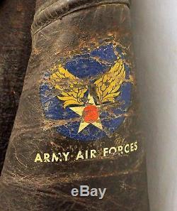 Wwii Us Army Airforce B3 Vol De Mouton Veste De Bombe Taille 38r Guerre Mondiale 2