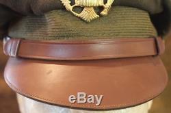 Wwii Usaaf Us Armée De L'air Armée Olive Drab Laine Chapeau Crusher Aucun Trou Flexible Bill