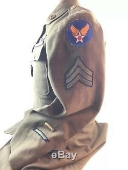 Wwii Ww2 Uniforme De L'armée De L'air Aaf, Strategic Air Force, Nommé, Plaque D'identité, Original