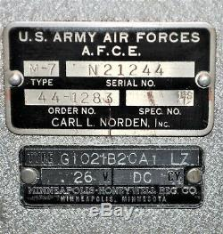 -offres-seconde Guerre Mondiale Norden Bomb-sight Avions Gyroscope Type M-7 U. S. Armée Forces Aériennes